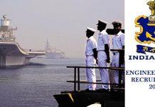 Indian Navy Engineer Officer Recruitment 2018