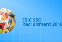ESIC SSO Recruitment 2018