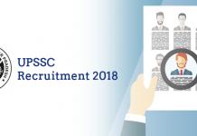 UPSSC Recruitment 2018