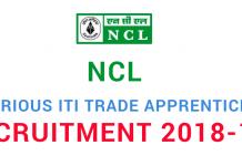 NCL Recruitment 2018-19