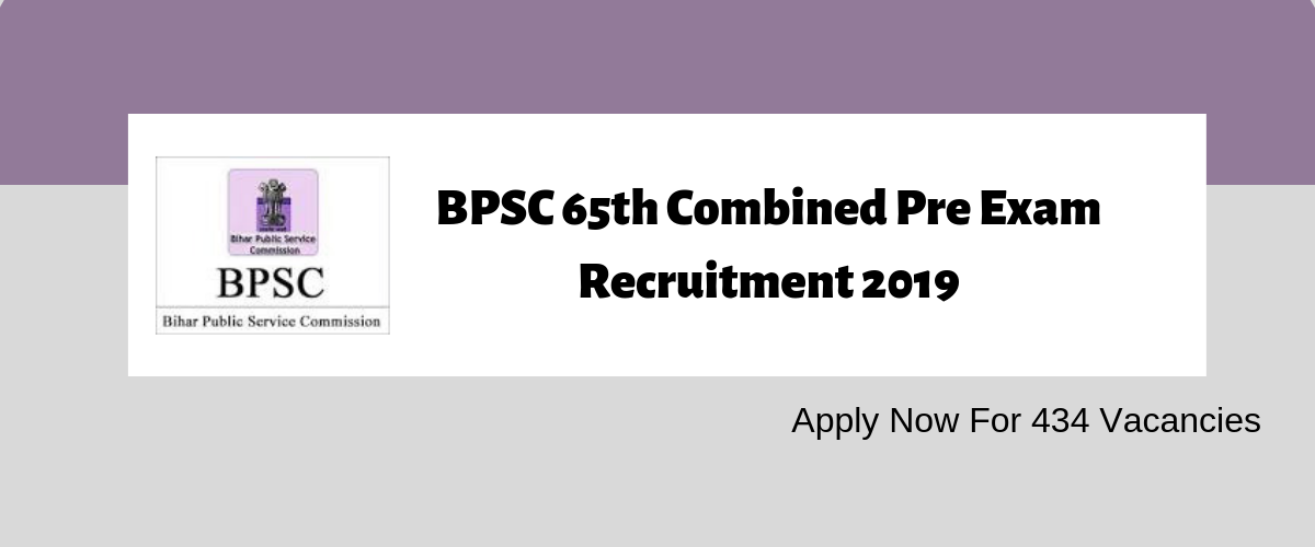 By Photo Congress || Bpsc 65 Recruitment 2019
